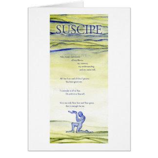 Suscipe (prière de St Ignatius) Cartes