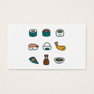 Sushi - aléatoires cartes de visite