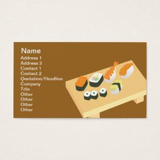 Sushi - classique cartes de visite