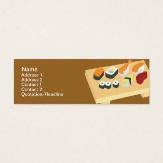 Sushi - maigres mini carte de visite