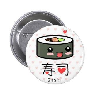 Sushi mignons badge rond 5 cm