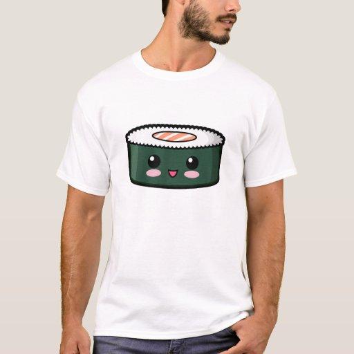 Sushi saumonés heureux t-shirt