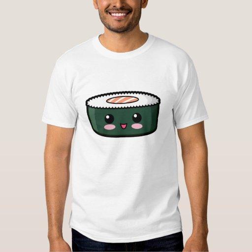 Sushi saumonés heureux t-shirts