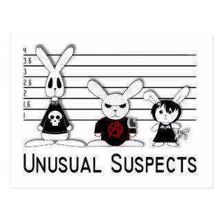 Suspects peu communs carte postale