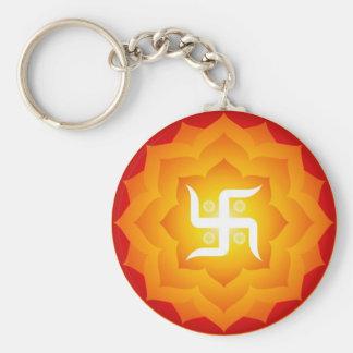 Svastika spirituel porte-clé rond