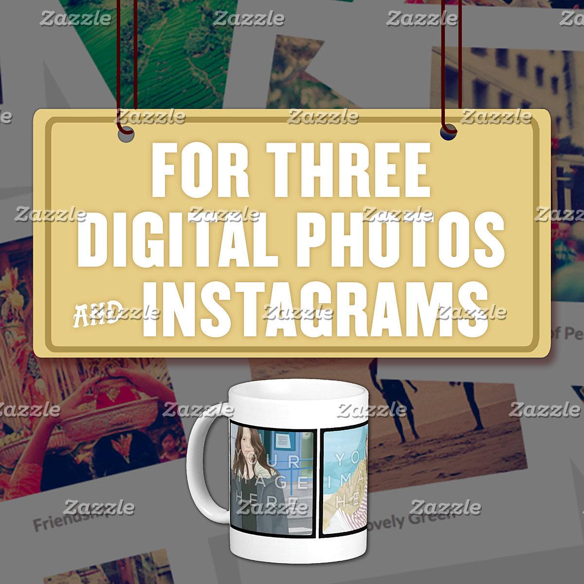 For Three (3) Digital Photos & Instagrams