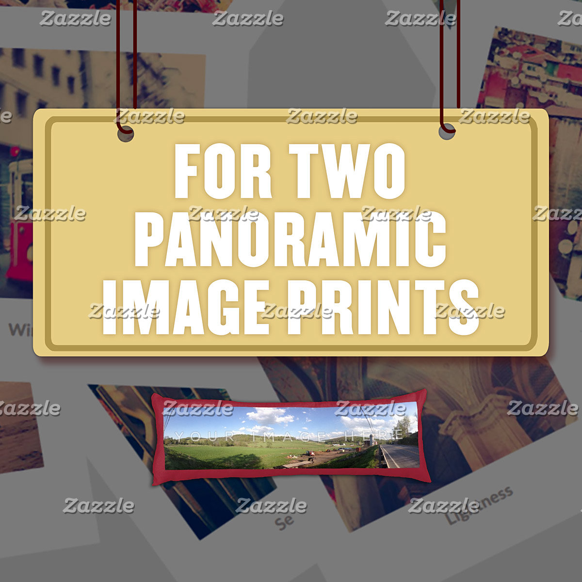 For Two (2) Panoramic Image Prints