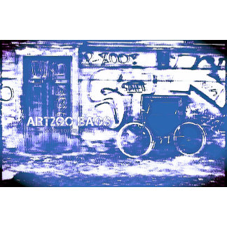 URBAN Fashion Bags in Blue Street Art