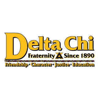 Delta Chi Name and Logo Gold