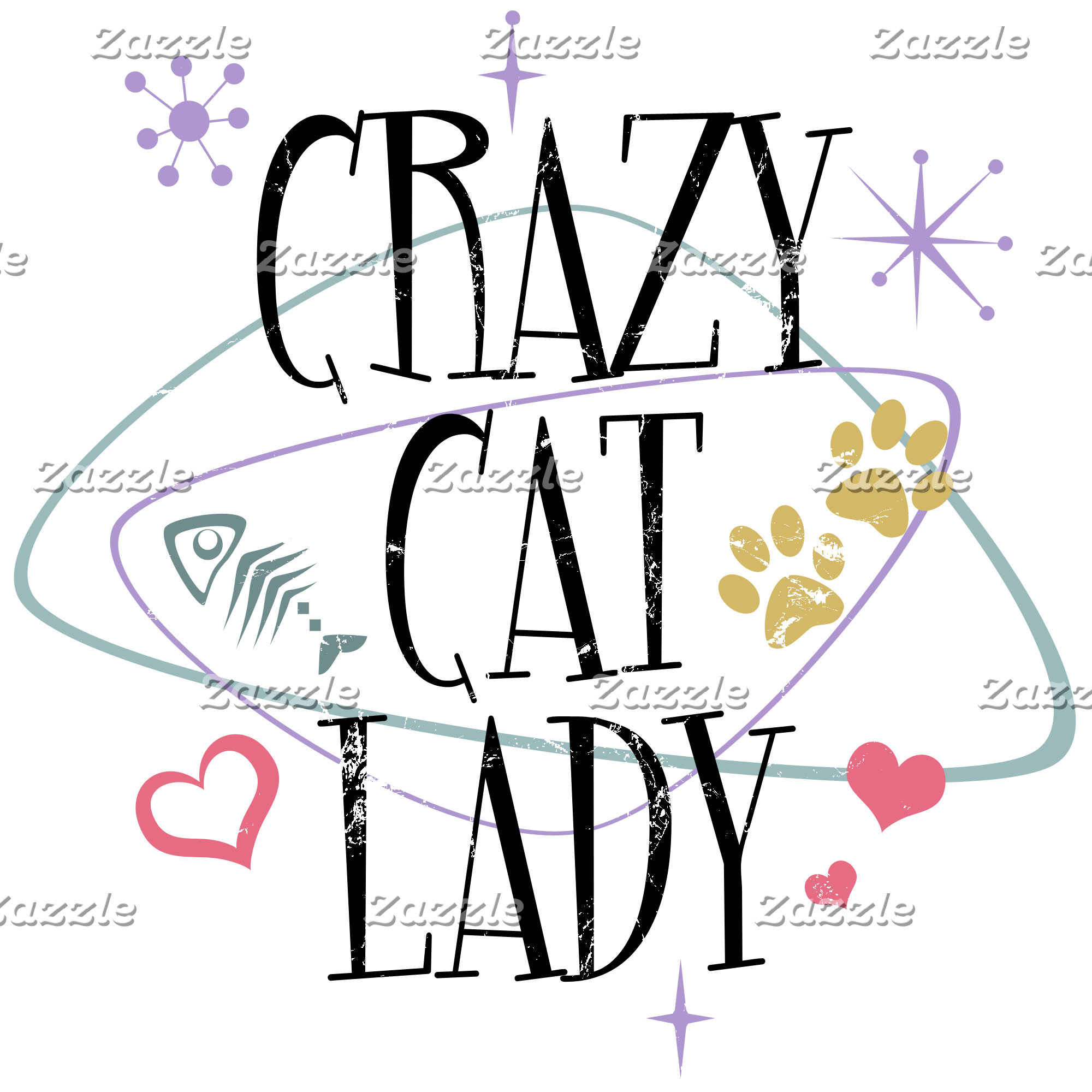 Crazy Cat Lady Vintage