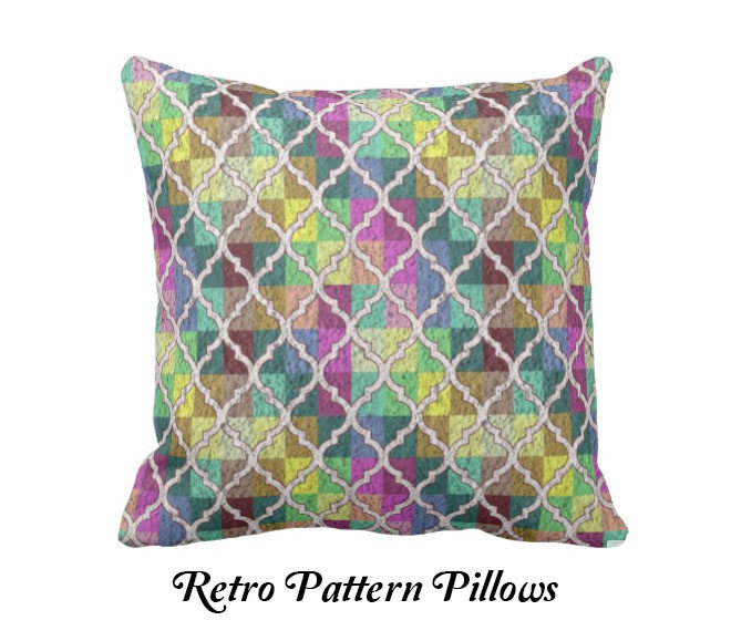 RETRO PATTERN PILLOWS