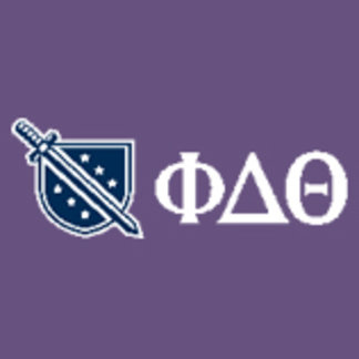 Phi Delta Theta - White Greek Lettters and Logo