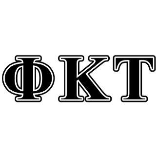 Phi Kappa Tau Black Letters