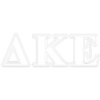 Delta Kappa Epsilon White and Blue Letters