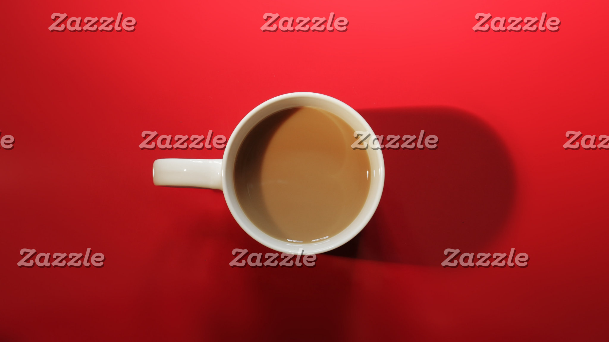 Coffee Cup on Red