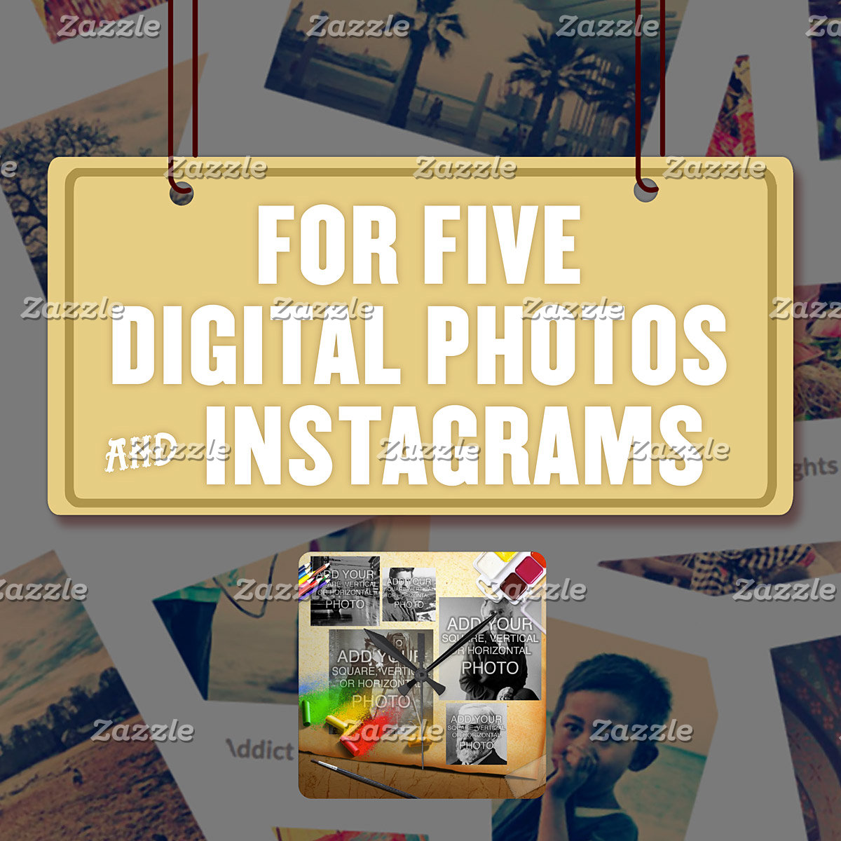 For Five (5) Digital Photos & Instagrams