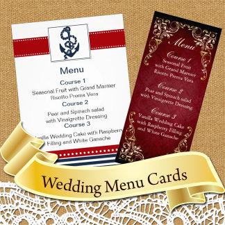 Wedding Menu Cards