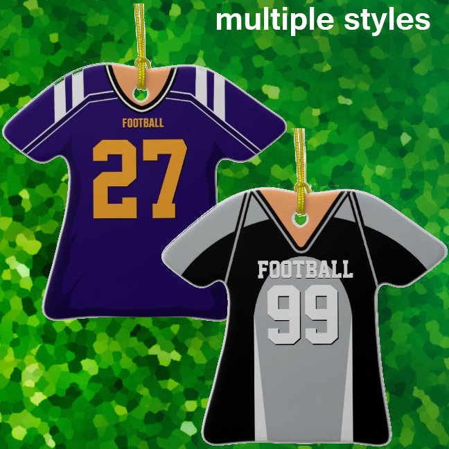 Football Jersey Ornaments