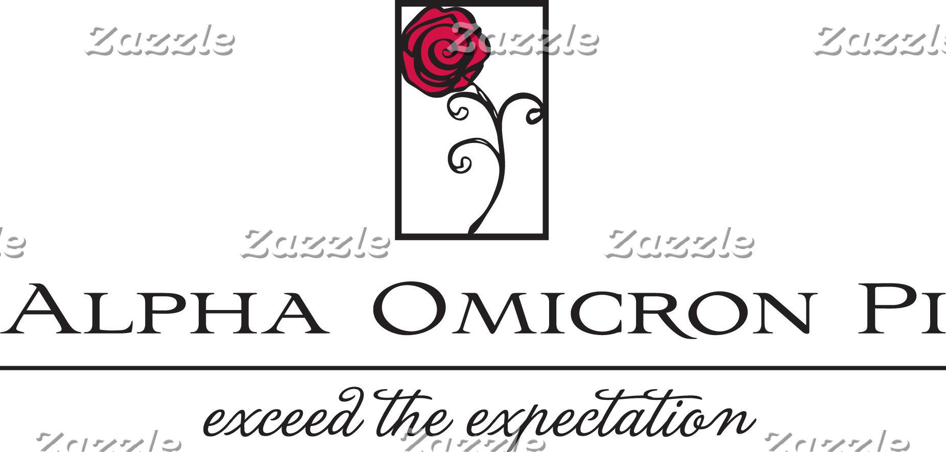 Alpha Omicron Pi Rose and Phrase