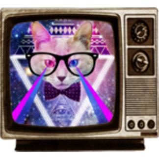 Hipster galaxy cat