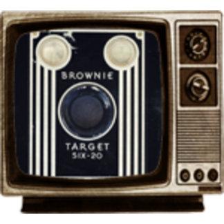 Retro camera brownie target
