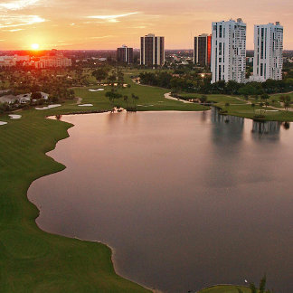 Country Club at sunset, Aventura, Florida