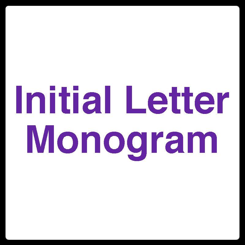 Initial Letter Monogram