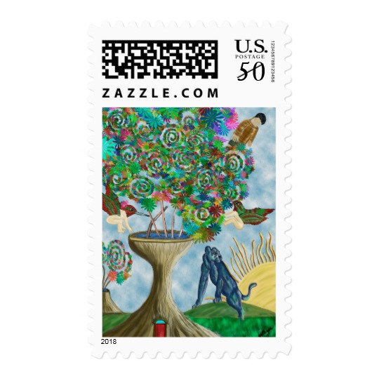 Abstract Postage Stamps