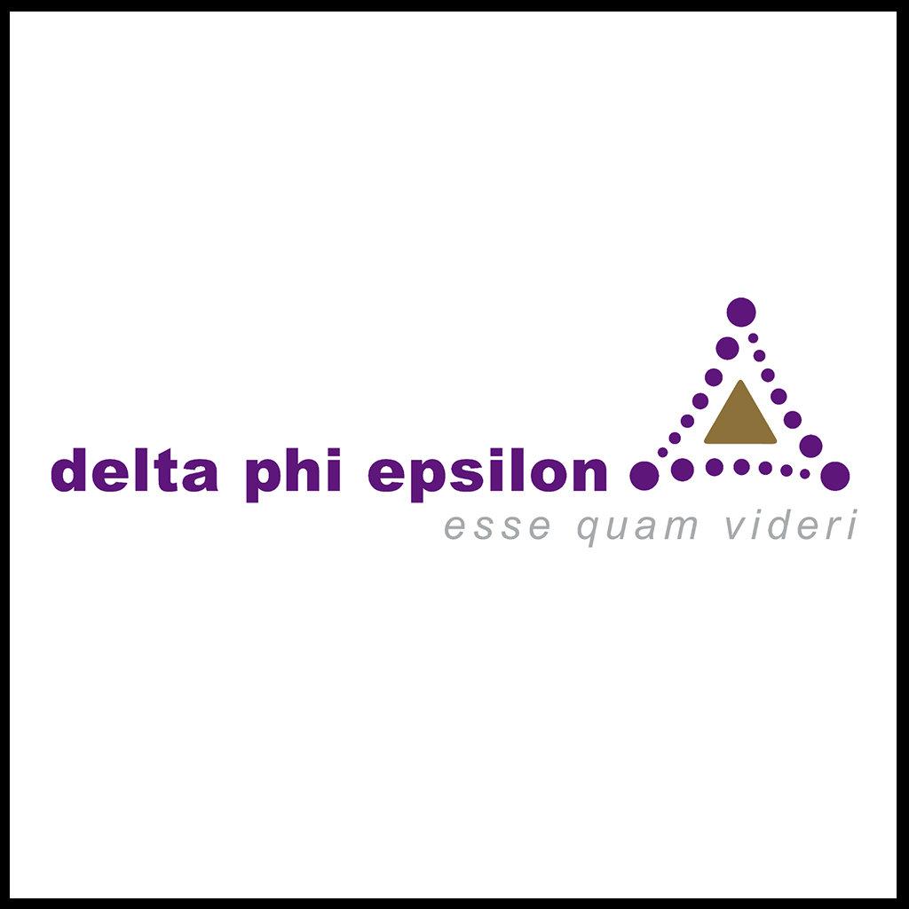 Delta Phi Epsilon Logo and Name - Color