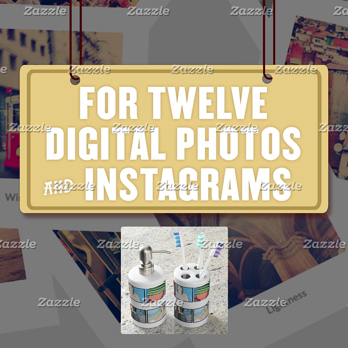For Twelve (12) Digital Photos & Instagrams