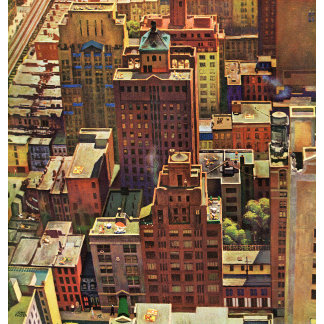 Bird's-Eye View of New York City by John Falter
