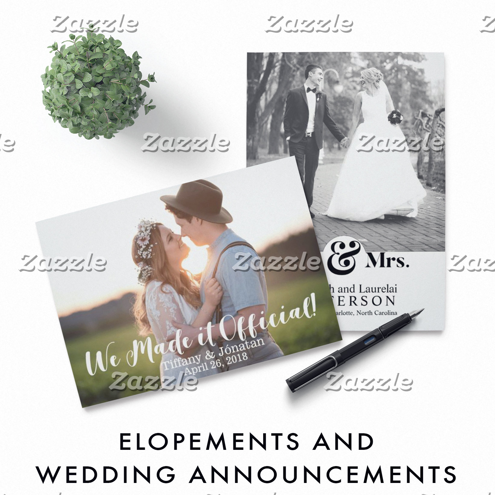 Elopements & Wedding Announcements