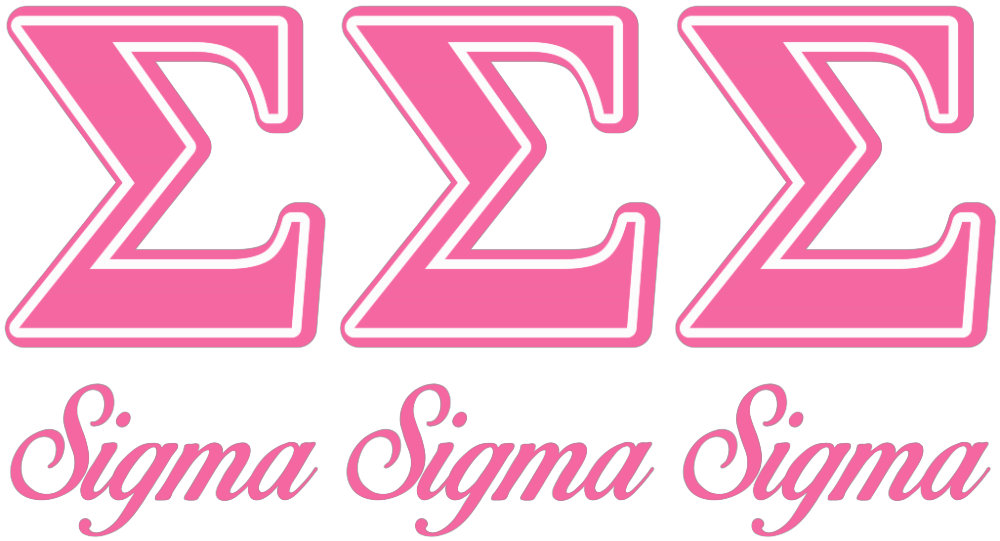 Sigma Sigma Sigma Pink Letters