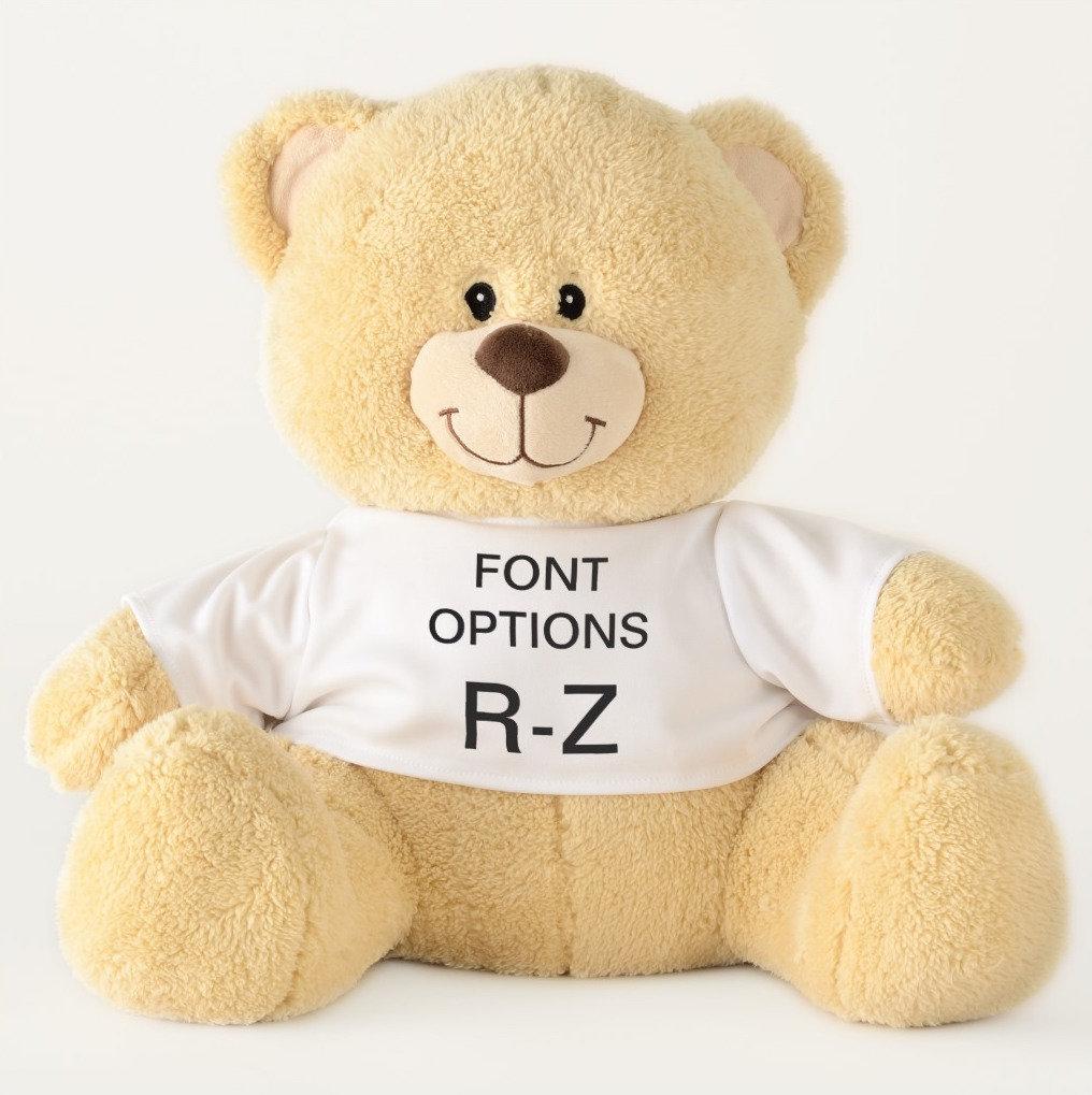 Teddy Bears ALL FONT OPTIONS R-Z