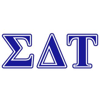 Sigma Delta Tau Blue Letters