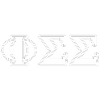 Phi Sigma Sigma White and Blue Letters