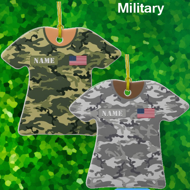 Military Shirt Ornaments