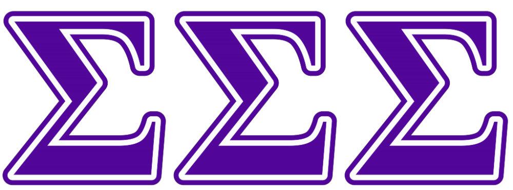 Sigma Sigma Sigma Purple Letters