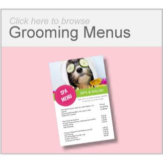 Grooming Spa Menus