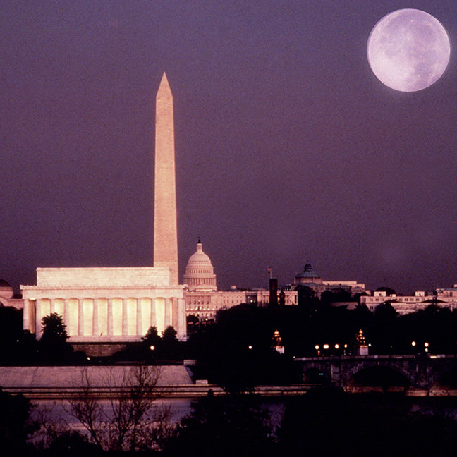 Washington Monument, the Capitol and Jefferson