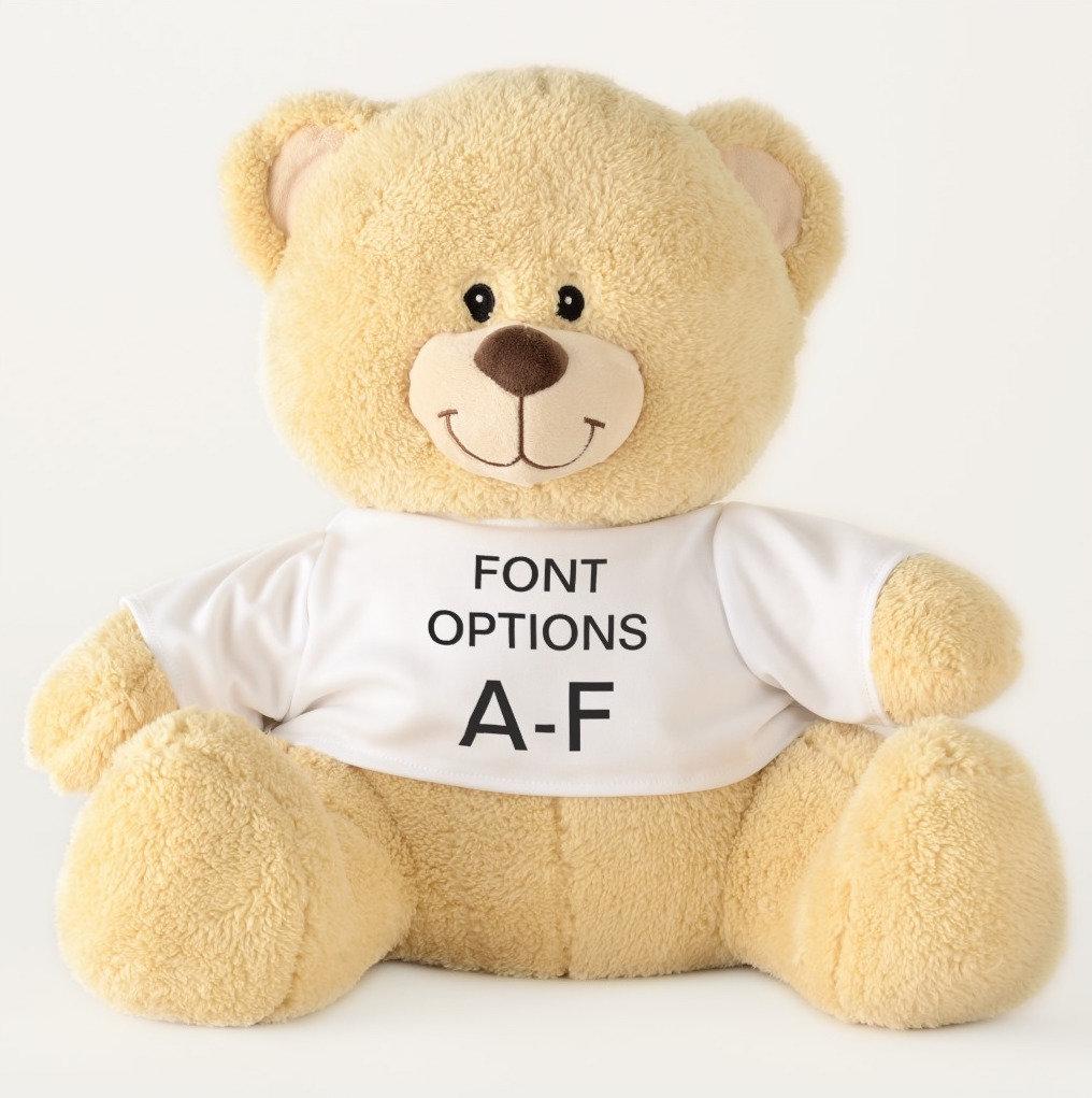 Teddy Bears ALL FONT OPTIONS A-F