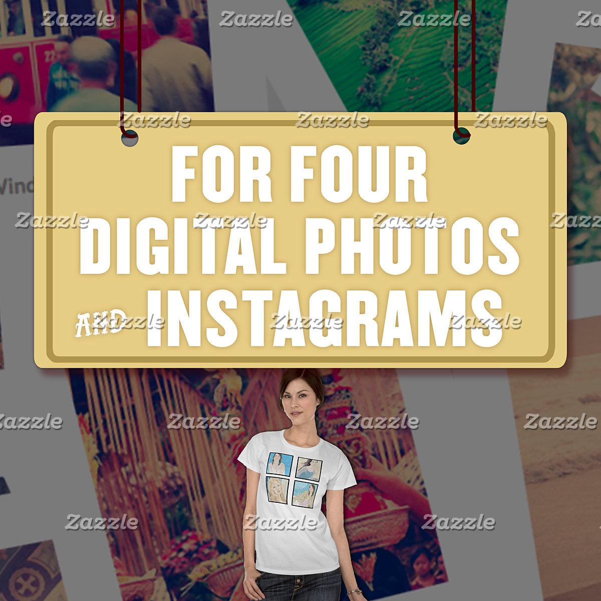 For Four (4) Digital Photos & Instagrams