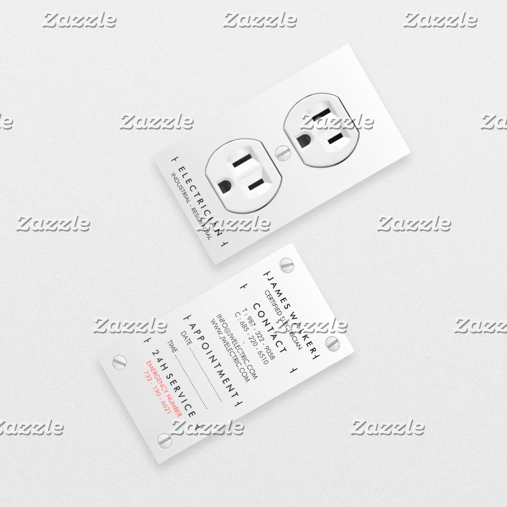 Electrician modern simple white electrical outlet