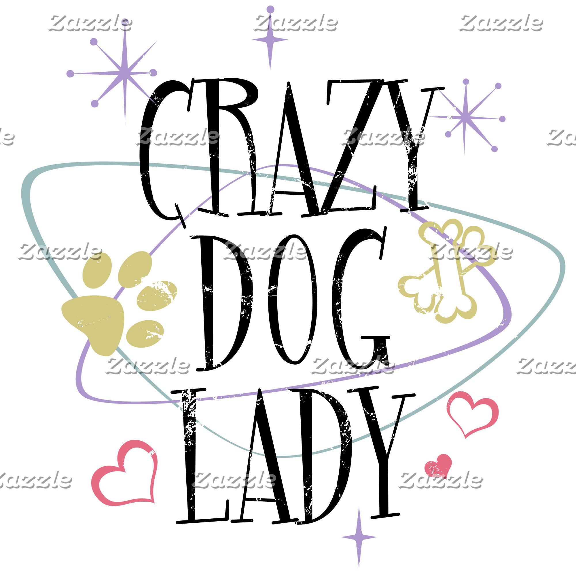Crazy Dog Lady Vintage