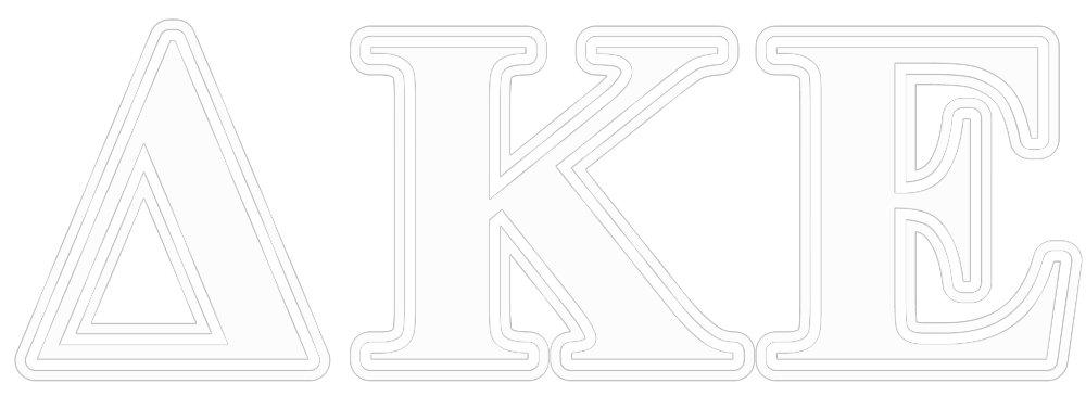 Delta Kappa Epsilon White and Red Letters