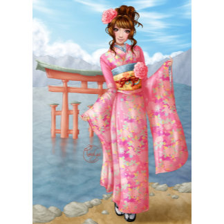 My universes - Japanese pink kimono