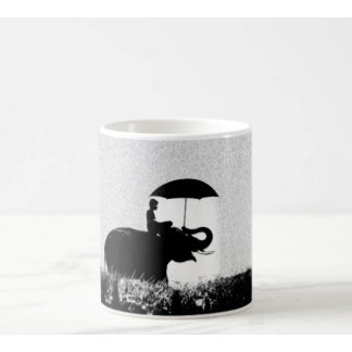 Elephant rain Art- Mugs