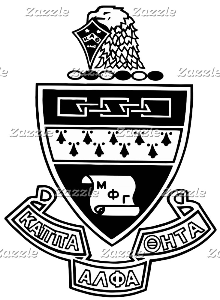 Kappa Alpha Theta Coat of Arms: Black and White