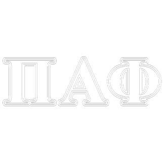 Pi Alpha Phi White and Yellow Letters