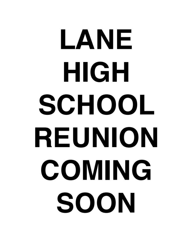 Lane High School Reunion